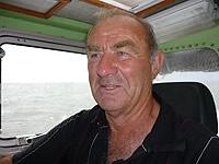 Wolfgang Gruben am Ruder