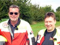 Die Stauhelfer der Johanniter: Wolfhard Ehrlich (links) und Michael Scholz