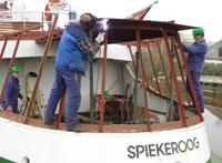 Auf Schiff Spiekeroog
