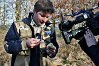 Dr. Florian Brandes vor der Kamera