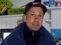 Lars Bücking in seinem Kiosk