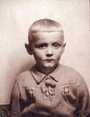 Erhard Jüsche, vier Jahre alt