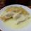 Ostfriesische Spezialität: Mehlpüüt – ein Hefekuchen mit Vanillesoße und Birnen