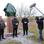 Das NDR-Team war auch bei der Enthüllung des Sturmflut-Denkmals in Pogum dabei.