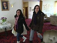 Christiane Bischoff mit Freundin Juliane im Hotel