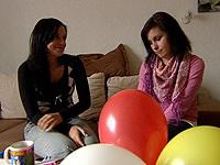 Christiane Bischoff mit Freundin Juliane