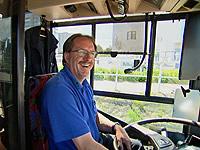 Stefan Gugler in seinem Bus