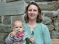 Silke Carstens mit Kind