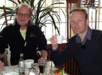 Sven Tietzer und Berny Hoffmann beim Kaffee