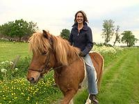 Martina Sassenberg auf ihrem Pferd