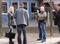 Das Kamerateam mit Sven Tietzer auf der Pirsch