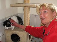 Ursula Schmidt mit Katze