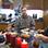 Familie Harms beim Frühstück