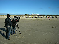 Filmteam am Strand