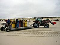 Transport der Strandkörbe