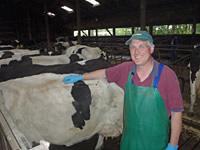 Bauer Meyer und seine Kühe
